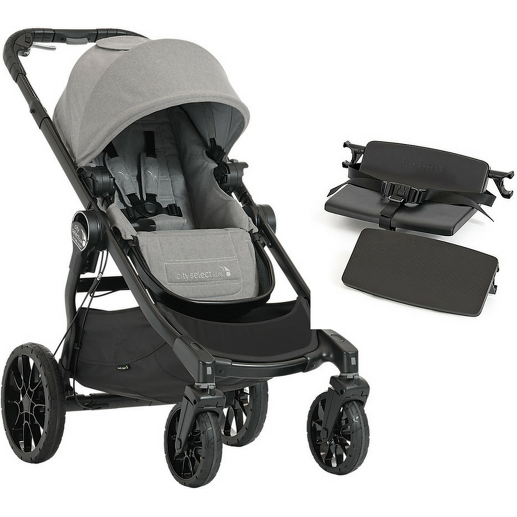 Baby Jogger City Select LUX Stroller, Bench Seat and Second Seat Adapters-Taupe-2008340 / 2018830 / 2011985-Strolleria