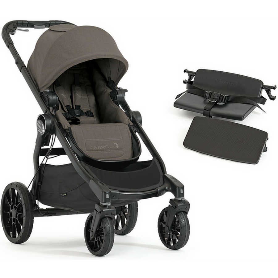Baby Jogger City Select LUX Stroller, Bench Seat and Second Seat Adapters-Indigo-2008401 / 2018830 / 2011985-Strolleria