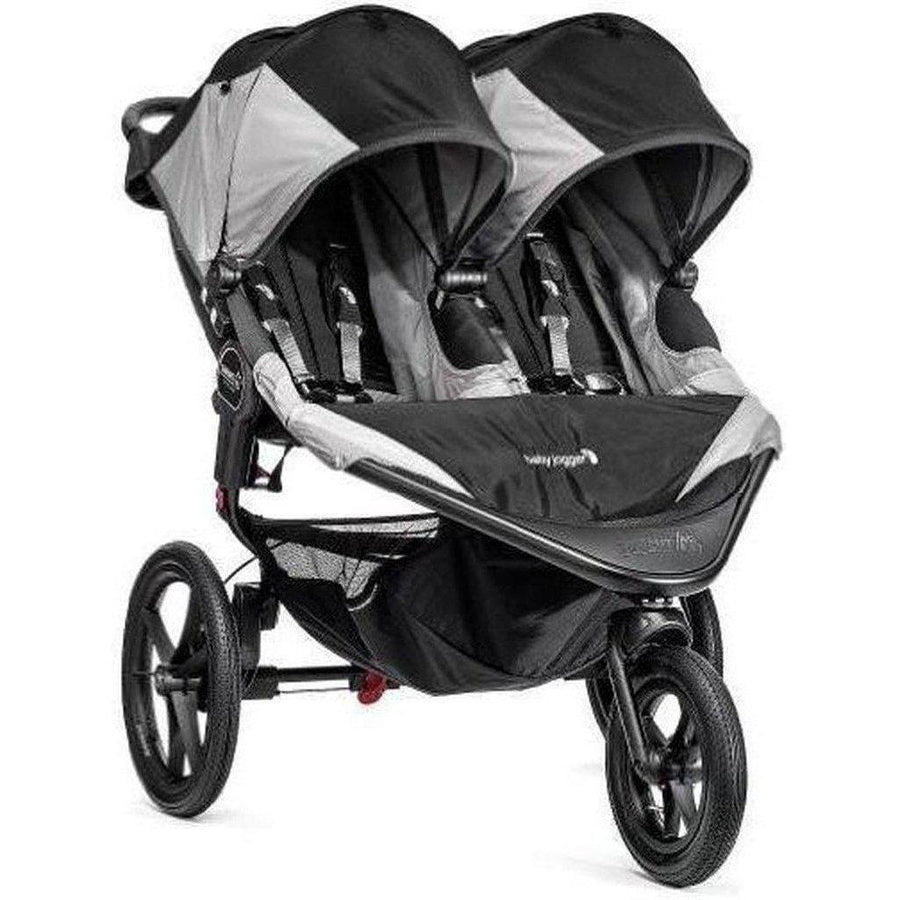 Baby Jogger Summit X3 Double Jogging Stroller-Green/Gray-1959593-Strolleria