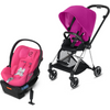 Cybex Mios2 and Cloud Q Plus with SensorSafe Travel System-Fancy Pink / Passion Pink-519003705 / 519003947-Strolleria