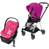 Cybex Mios2 and Cloud Q Plus with SensorSafe Travel System-Fancy Pink / Passion Pink-519003703 / 519003947-Strolleria