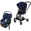 Cybex Mios2 and Cloud Q Plus with SensorSafe Travel System-Indigo Blue / Midnight Blue-519003547 / 519003941-Strolleria