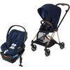 Cybex Mios2 and Cloud Q Plus with SensorSafe Travel System-Indigo Blue / Midnight Blue-519003371 / 519003941-Strolleria