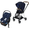 Cybex Mios2 and Cloud Q Plus with SensorSafe Travel System-Indigo Blue / Midnight Blue-519003355 / 519003941-Strolleria