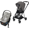 Cybex Mios2 and Cloud Q Plus with SensorSafe Travel System-Manhattan Grey-519003365 / 519003943-Strolleria
