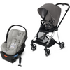 Cybex Mios2 and Cloud Q Plus with SensorSafe Travel System-Manhattan Grey-519003549 / 519003943-Strolleria