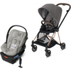 Cybex Mios2 and Cloud Q Plus with SensorSafe Travel System-Manhattan Grey-519003373 / 519003943-Strolleria