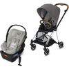 Cybex Mios2 and Cloud Q Plus with SensorSafe Travel System-Manhattan Grey-519003357 / 519003943-Strolleria