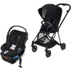 Cybex Mios2 and Cloud Q Plus with SensorSafe Travel System-Premium Black / Stardust Black-519003361 / 519003939-Strolleria