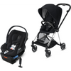 Cybex Mios2 and Cloud Q Plus with SensorSafe Travel System-Premium Black / Stardust Black-519003545 / 519003939-Strolleria