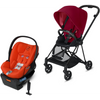 Cybex Mios2 and Cloud Q Plus with SensorSafe Travel System-True Red / Autumn Gold-519003367 / 519003945-Strolleria