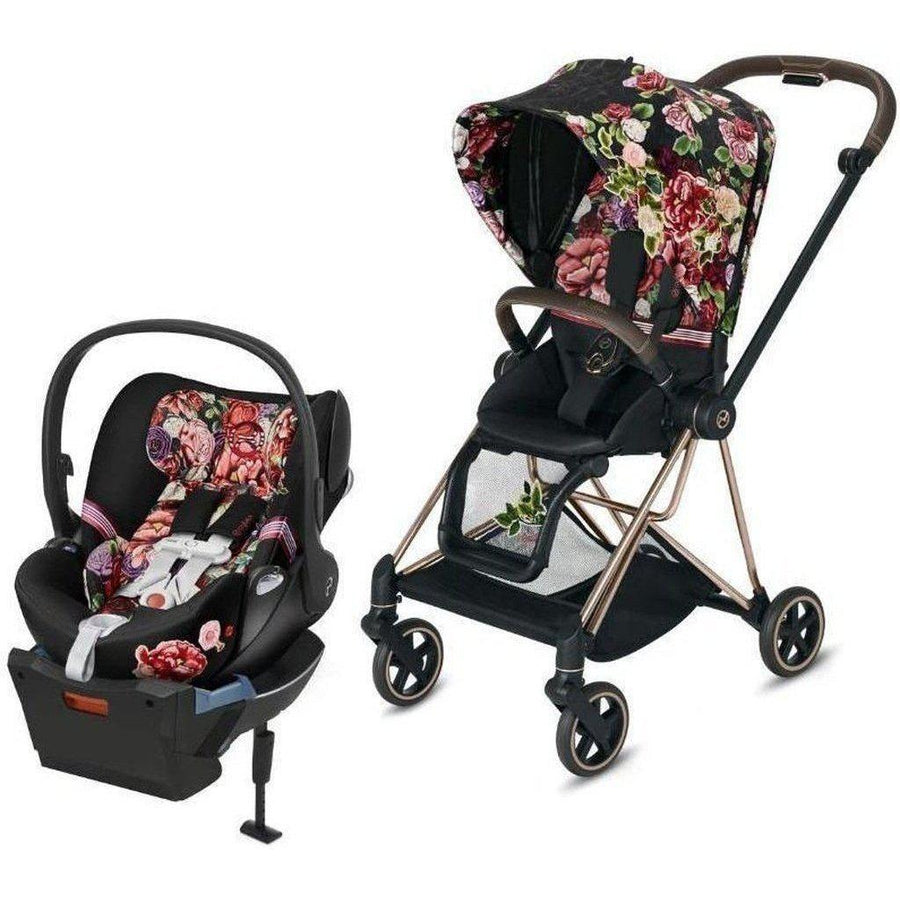 Cybex Mios2 and Cloud Q Travel System - Spring Blossom-Light-519004001 / 519003269 / 519004367-Strolleria