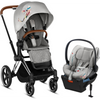 Cybex Priam3 and Cloud Q Travel System - Koi Collection-519003681 / 519003259 / 519003863-Strolleria