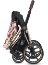 Cybex Priam3 Bundle - Stroller, Carry Cot and Cloud Q Infant Car Seat - Spring Blossom-Dark-519003979 / 519003263 / 519004369 / 519003991-Strolleria