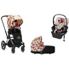 Cybex Priam3 Bundle - Stroller, Carry Cot and Cloud Q Infant Car Seat - Spring Blossom-Light-519003969 / 519003263 / 519004367 / 519003985-Strolleria