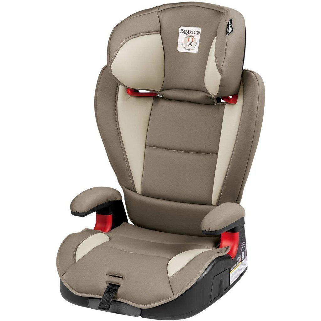 Peg Perego Viaggio HBB 120 Booster Car Seat-Licorice - Black Eco Leather-IMVI01US35BL13DX13-Strolleria