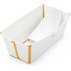 Stokke Flexi Bath Bundle - Tub and Newborn Support-White Yellow-531607-Strolleria
