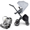 Stokke Xplory V6 and Stokke PIPA Travel System - Black Frame-Grey Melange / Black Handle / Black Melange-500501 / 519201-Strolleria