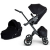 Stokke Xplory V6 Stroller and Carry Cot Bundle - Black Frame-Black / Black Handle-500504 / 502304-Strolleria