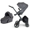 Stokke Xplory V6 Stroller and Carry Cot Bundle - Black Frame-Black Melange / Black Handle-500502 / 502302-Strolleria