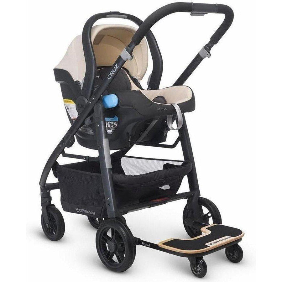 Black FYLO Ride On Board with Seat Compatible with Uppababy Cruz