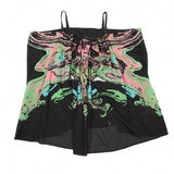 Issey Miyake Japan. Black/Multicolor Print Summer Camisole top Sz. 2