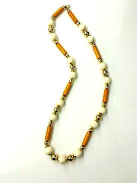 Dior. Paris. 1970 Bakelite Bead Necklace. Signed.
