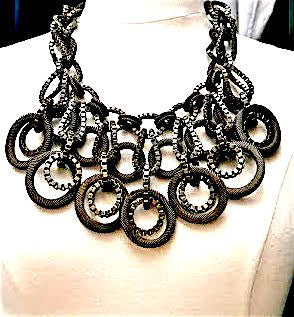 Lanvin. Paris. Runway Statement Bib Necklace.