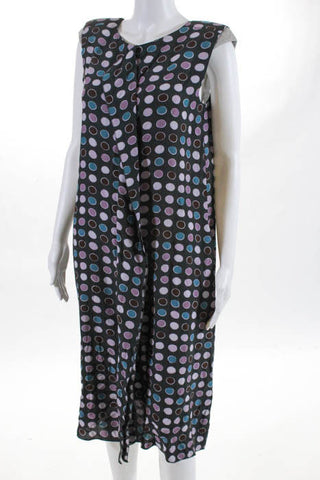 Marni. Italy. Multi-Color Silk Floral Print Lightweight Sun Dress