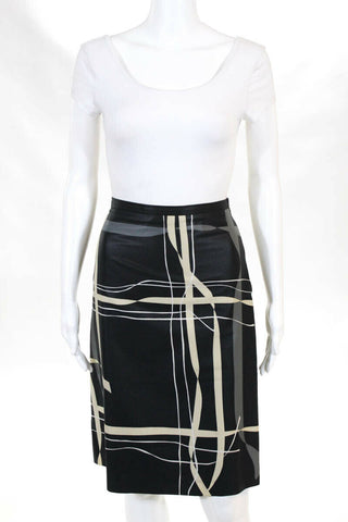 Comme des Garcons Japan. Tricot Line Black/White Skirt  Sz. M