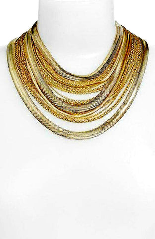 Ranjana Khan Gold Plated Chain Drop Necklace