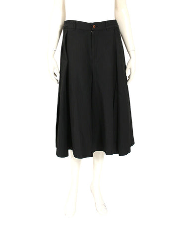 Comme Des Garcons Japan. Sleeveless Black Cotton Mesh Overlay Apron Dress Embroidered Details Size Small