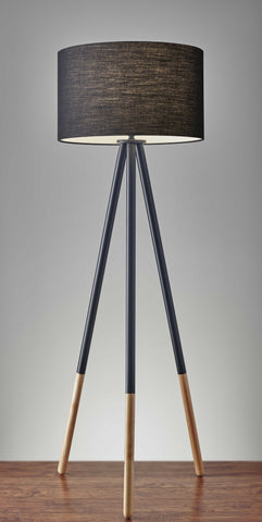 Tripod Floor Lamp Urban Mixed Metal and Wood Tripod Floor Lamp Urban Mixed