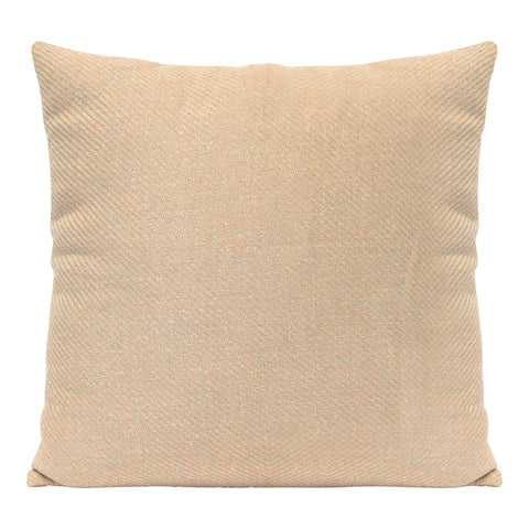 Square Sand Beige Tweed Textured Throw Pillow Square Sand Beige Tweed