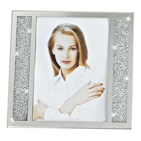 5 x 7 Silver Crystalized Picture Frame 5 x 7 Silver Crystalized Picture