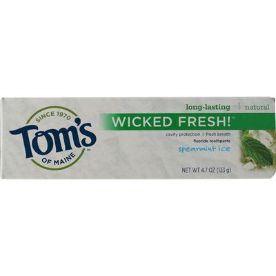 Tom's Of Maine Wicked Fresh! Spearmint Ice Toothpaste (6x4.7 Oz) Tom's Of Maine Wicked Fresh! Spearmint Ice Toothpaste