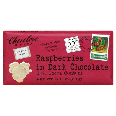 Chocolove Dark Choc/RspBerry (12x3.1OZ ) Chocolove Dark Choc/RspBerry (12x3.1OZ )