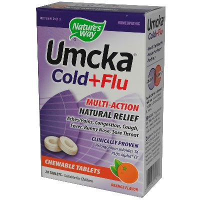 Nature's Way Orange Umcka C+F Chewbl (1x20TAB ) Nature's Way Orange Umcka C+F Chewbl (1x20TAB )