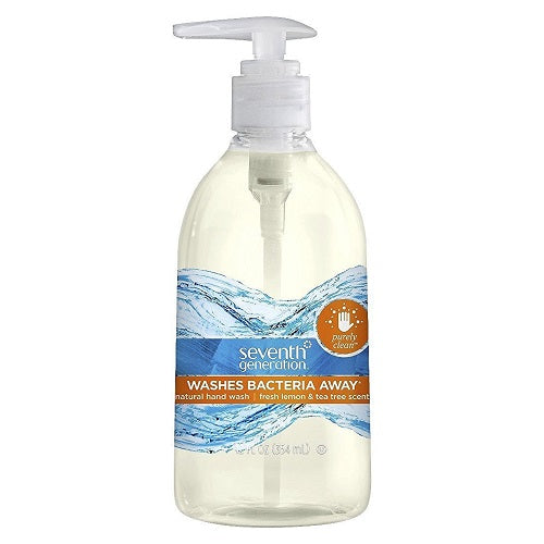 Seventh Generation Purely Clean Hand Wash, Fresh Lemon And Tea Tree (8X12 OZ) Seventh Generation Purely Clean Hand Wash,