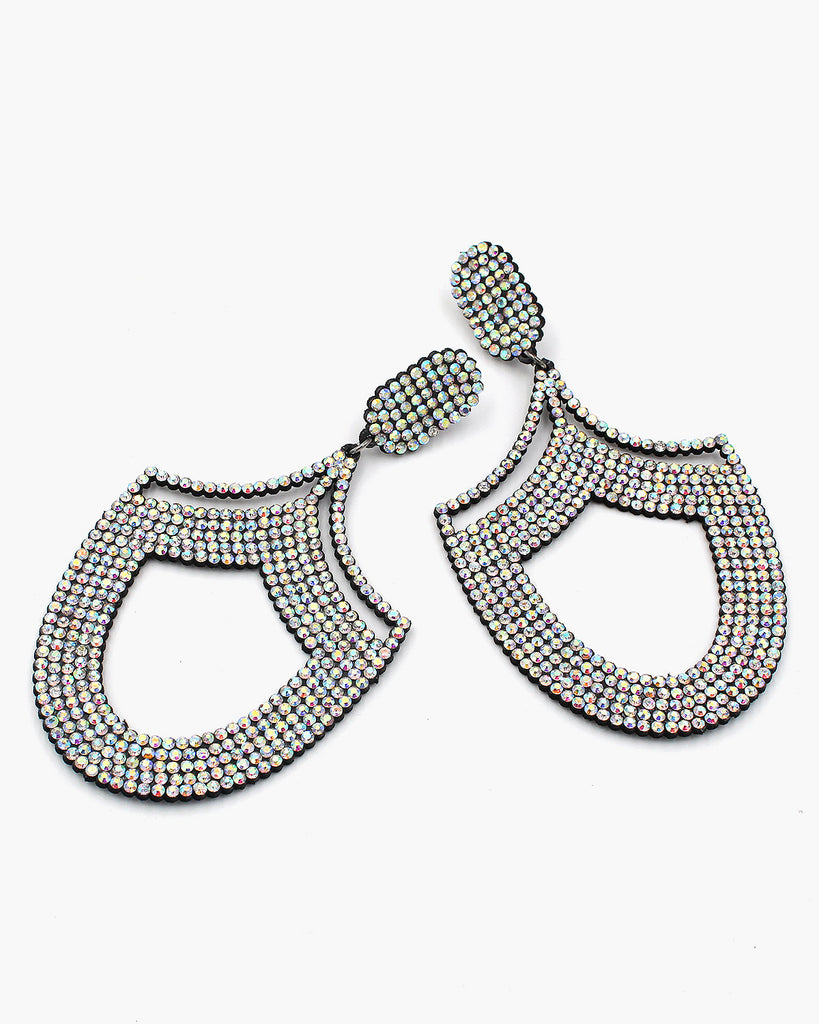 Oversize Rhinestone Statement Earrings