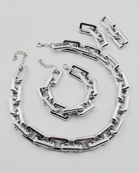 Chunky 3PC Metal Chain Set
