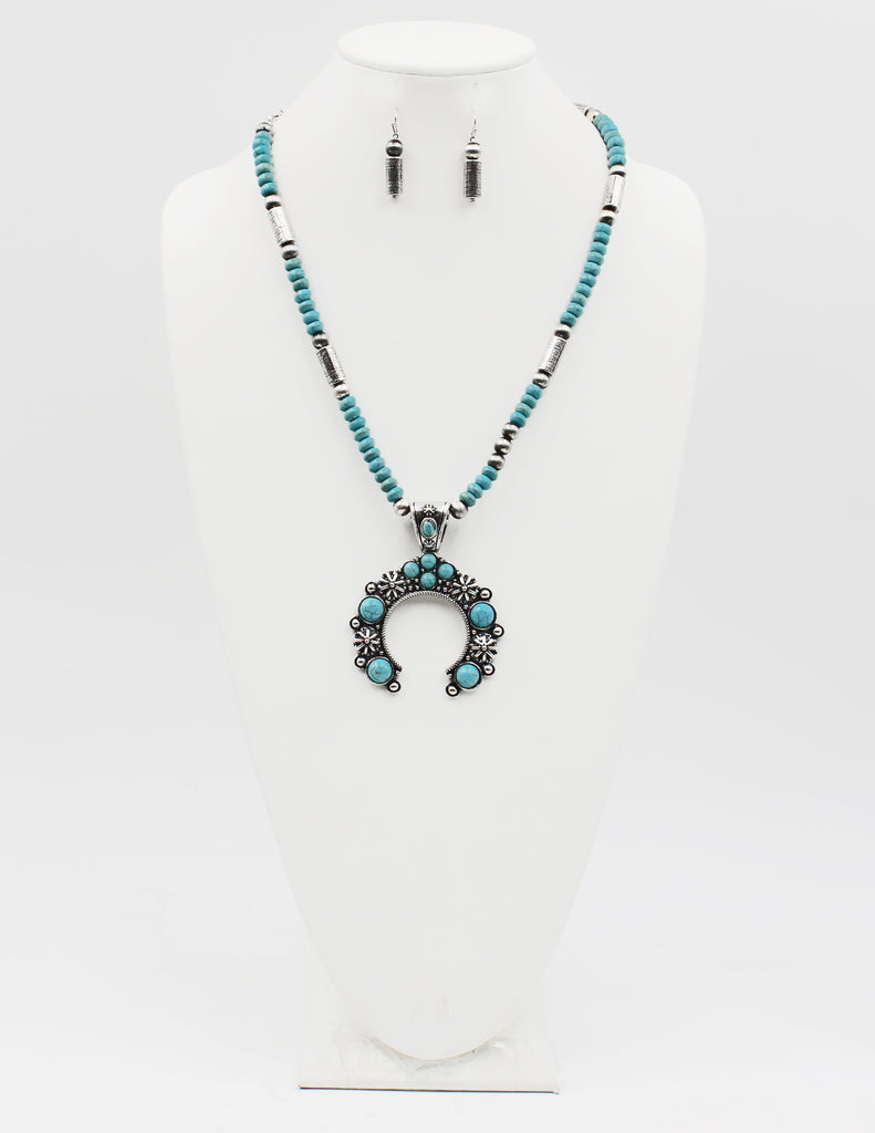 Texas State Druzy Pendant Necklace