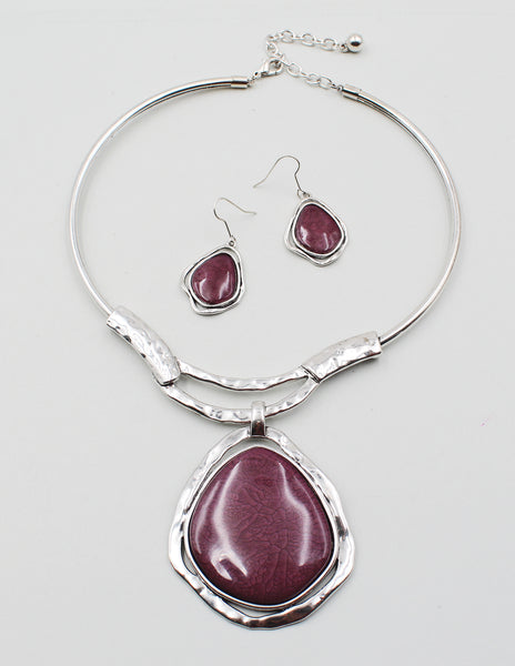 Square Stone Stretch Bracelet