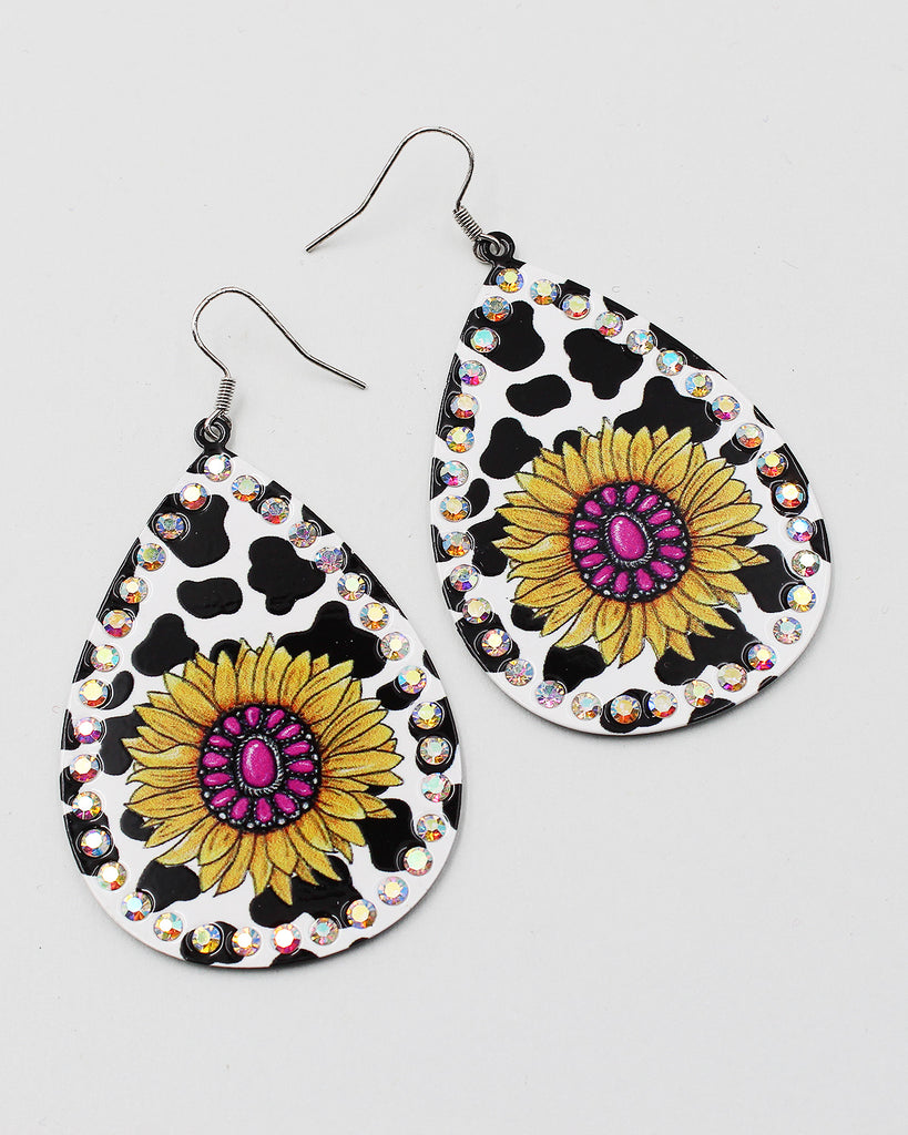 Seed Bead South Western Tear Drop Earrings