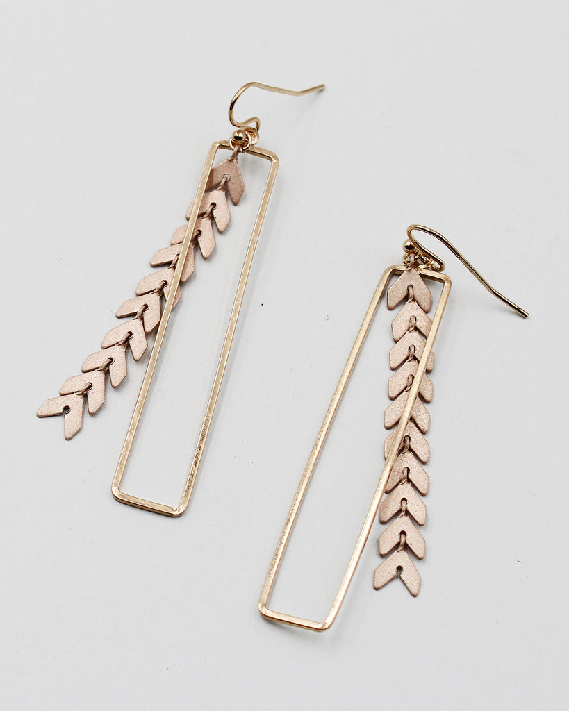 Oxidized Metal Dangle Earrings