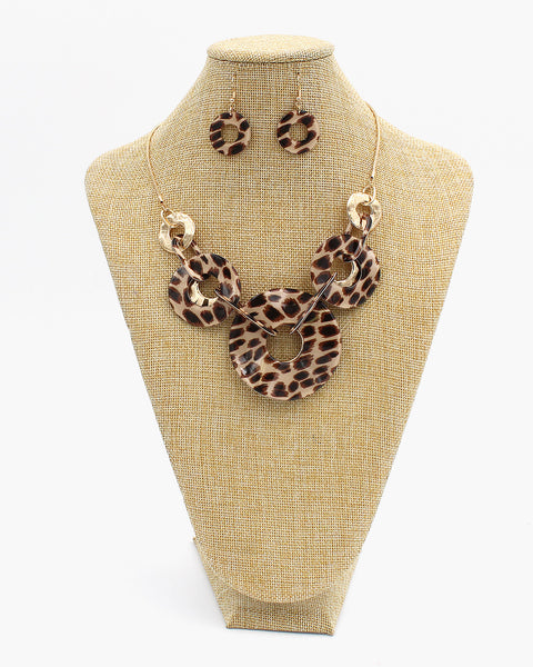 Animal Print Collar Necklace Set