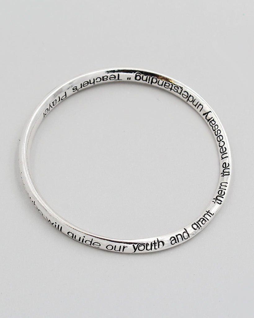 TEACHER'S PRAYER Inspirational Bangle Bracelet