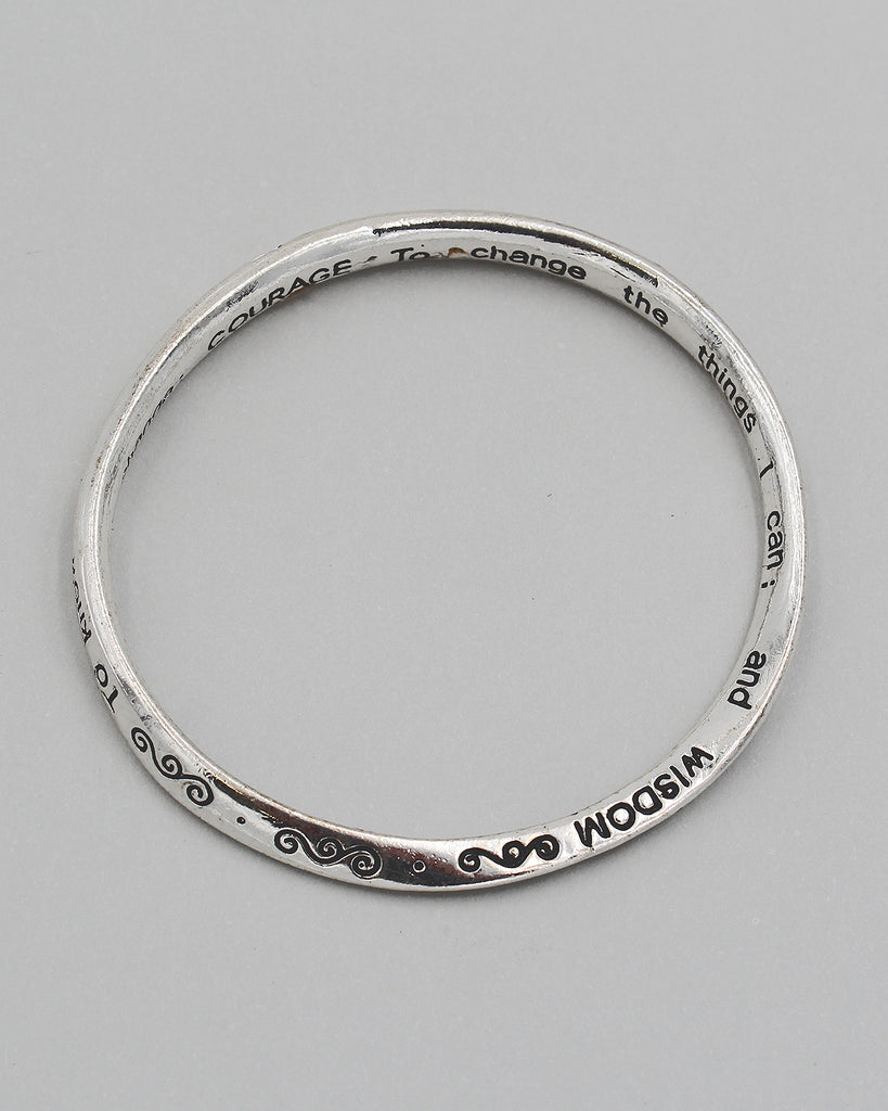 The Serenity Prayer Bangle Bracelet