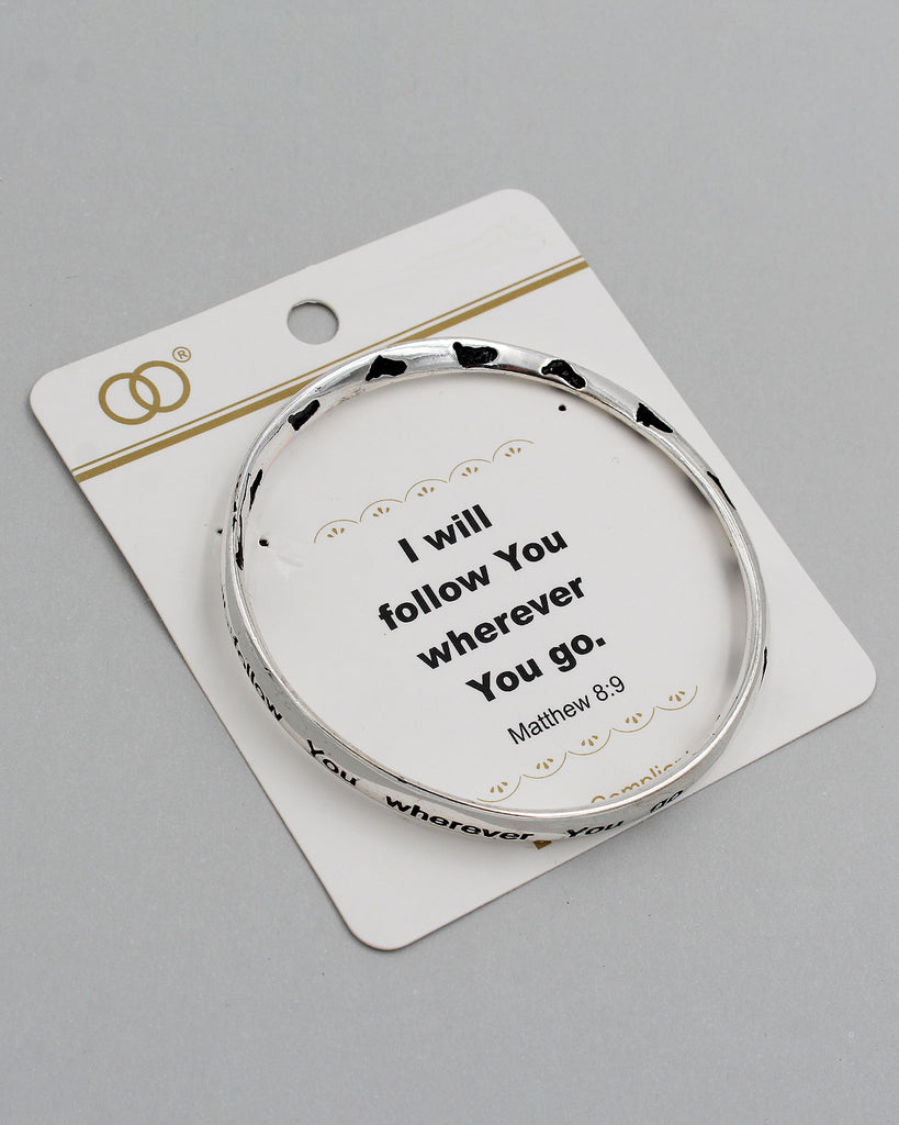 Matthew 8:9 Inspirational Bangle Bracelet