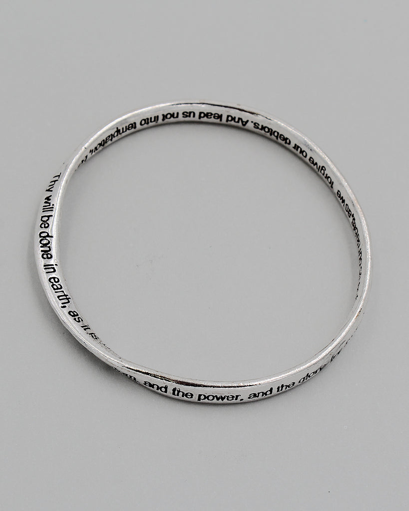 Lord's Prayer Bangle Bracelet